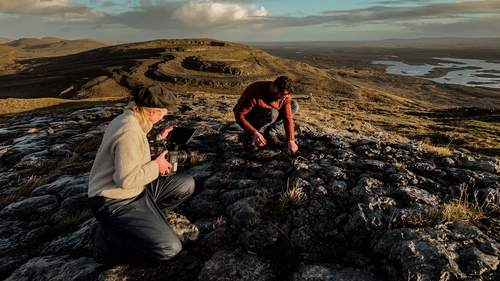 Proceedings may have been watched by people gathered at the foot of the hill until the person carrying the offerings literally disappeared through a hole in the rock. Photo: Gavin Gallagher