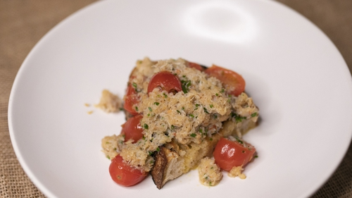 Paul Flynn's buttered tomatoes on toast.