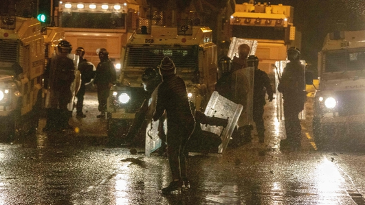 A seventh consecutive night of violence in Northern Ireland
