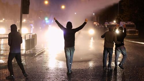 Rioting in Belfast
