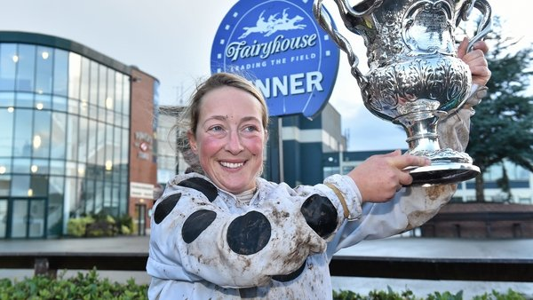 Lorna Brooke pictured after winning at Fairyhouse in 2015