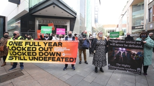 Protests to mark the first anniversary of the liquidation of the Debenhams chain in Ireland were held today (RollingNews.ie)