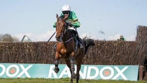 Fakir D'Oudairies jumps the last en route to landing the Aintree feature