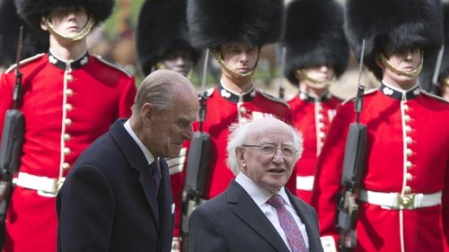 President Michael D Higgins with Prince Phillip during the 2014 State visit to the UK