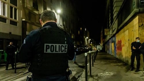 Police were investigating a noise complaint and found more than 100 people flouting restrictions (Pic: Préfecture de Police/Twitter)