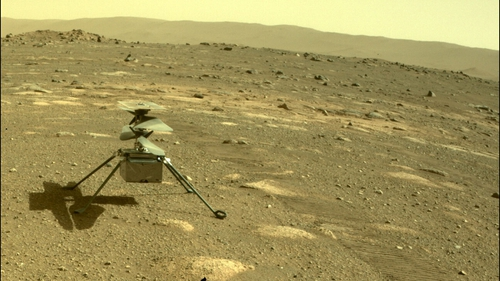 The Ingenuity helicopter on Mars (Pic: NASA)