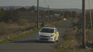 Gardaí at the scene of this morning's crash in Co Galway