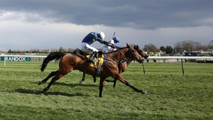 Thyme Hill (near side) got the better of Roksana on the run to the line