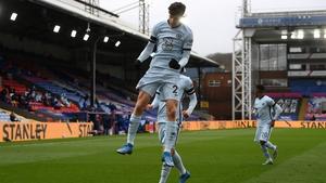 Kai Havertz jumps for joy after scoring at Selhurst Park