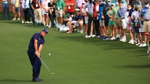 Mickelson turned on the style at Augusta on Saturday.