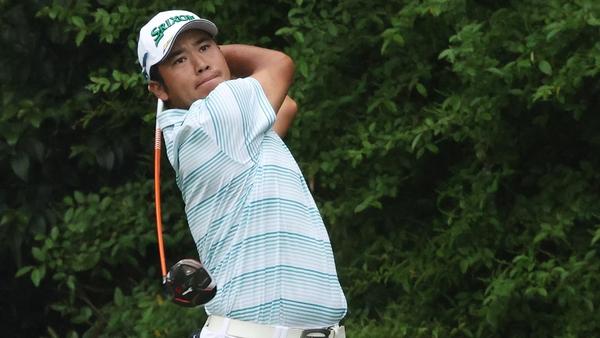 Hideki Matsuyama in action at the Masters