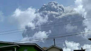 The 1,235m La Soufriere had not erupted since 1979
