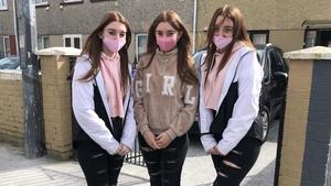 Morgan, Simone and Katelynn Reddan are students at Thomand Community College
