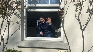 Henry de Bromhead self-isolating at home in Waterford today