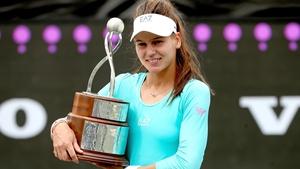 Veronika Kudermetova celebrates her maiden WTA title in Charleston