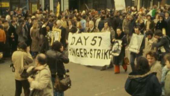Protest in support of hunger strikers, west Belfast (1981)