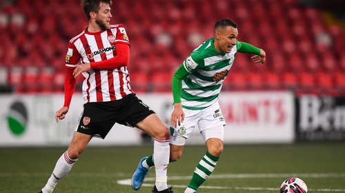Graham Burke scored from halway line against Derry City