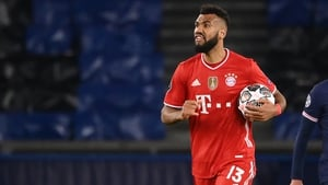 Eric Maxim Choupo-Moting grabs the match ball after scoring against PSG