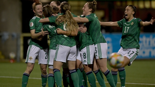 Northern Ireland celebrate a historic victory