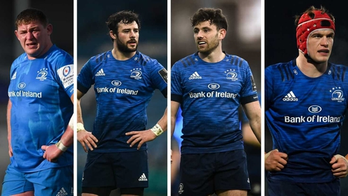 (L to R): Tadhg Furlong, Robbie Henshaw, Hugo Keenan and Josh van der Flier