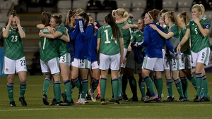 Northern Ireland players celebrate after creating history at Seaview