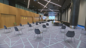 The court proceedings are being held at Croke Park to facilitate social distancing requirements