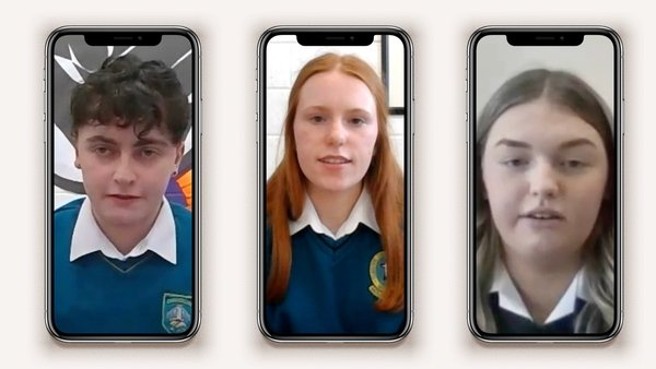 Daniel McKernan from Largy College in Co Monaghan, Róise O'Donnell from Mercy Secondary School in Tralee and Kate Jackson from St Leo's College in Carlow are taking part in YSI