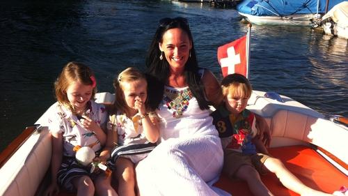 Tracey-Jane Cassidy, owner of Junior Einstiens Science Club, with her three children