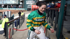 Unbridled joy was etched across the face of Rachael Blackmore after her historic win at Aintree