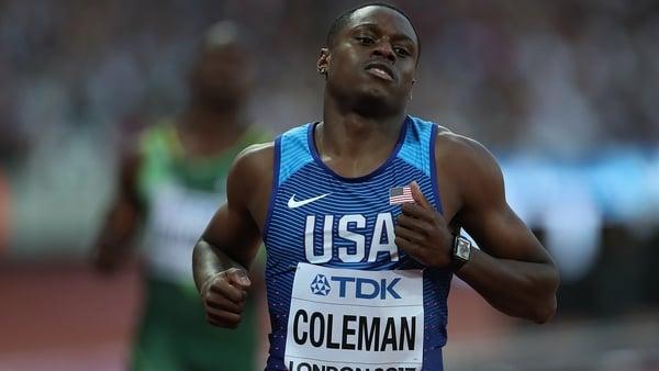 Christian Coleman's ban ends on 14 November