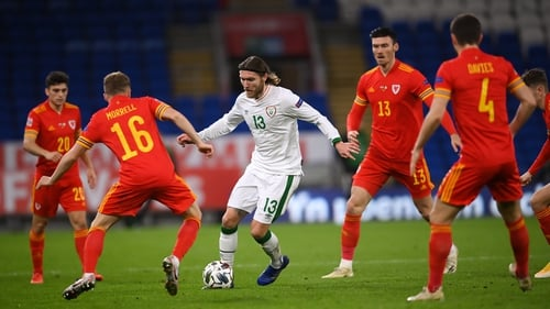 Action from the Nations League match between Wales and Ireland at Cardiff City Stadium back in November.