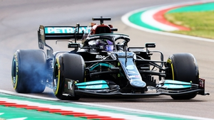 Lewis Hamilton stormed to the fore in Imola