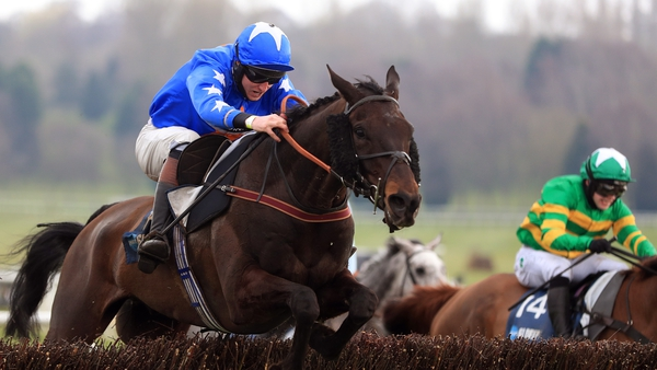 Mighty Thunder and Blair Campbell in action during last month's Midlands Grand National at Uttoxeter