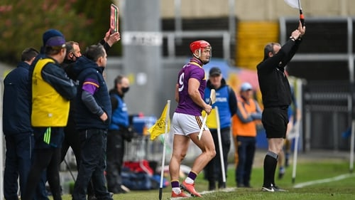 Wexford's Lee Chin comes on as a sub against Clare in last year's qualifiers