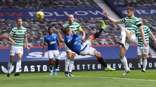 Steven Davis opened the scoring for Rangers with an acrobatic effort
