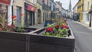 Streets in Ennis have been closed to traffic as the solution to facilitate social distancing
