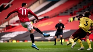 Mason Greenwood scores his second goal of the game