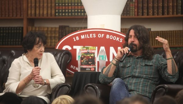 Virginia Grohl and Dave Grohl attend Virginia and Dave Grohl In Conversation at Strand Bookstore on April 25th, 2017 in New York City. (Photo by Steve Zak Photography/Getty Images)