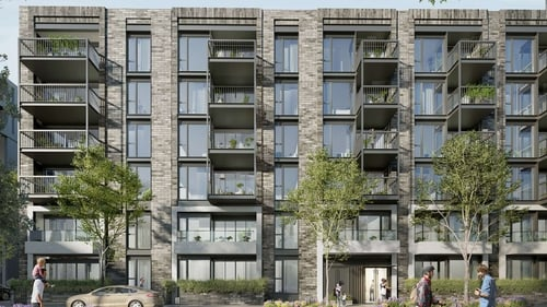 The development at the former Player Wills factory site includes four apartment blocks with one reaching 19 storeys in height