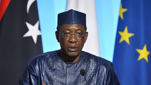 Idriss Deby pictured during a visit to France in 2017