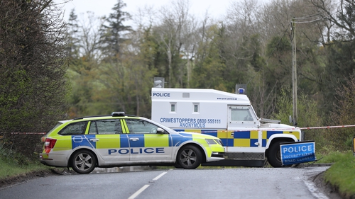 The device was left at the part-time PSNI officer's home near Dungiven in Co Derry