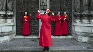 Choral singers (L to R) Denise Brueckl, Saoirse Daly, Aisling and Ciara O'Riordan