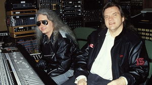 Jim Steinman and Meat Loaf during the recording of Bat Out of Hell II: Back Into Hell in Los Angeles in 1991