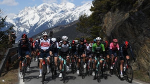 Dan Martin finished in the peloton on the third day in the Alps