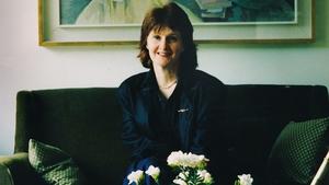 April 1992: Poet Eavan Boland at her home (Pic: Joe St Leger, copyright The Irish Times)