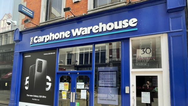 A Carphone Warehouse store in Dublin city centre