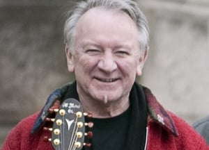 Marty chatting with Donal Lunny