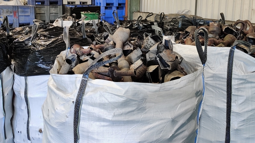 The catalytic converters were found at a premises in the Dublin 11 area