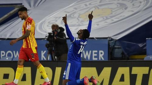 Kelechi Iheanacho celebrates his goal