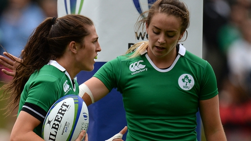 Stacey Flood (r) and Amee-Leigh Murphy Crowe will start their first games for Ireland tomorrow